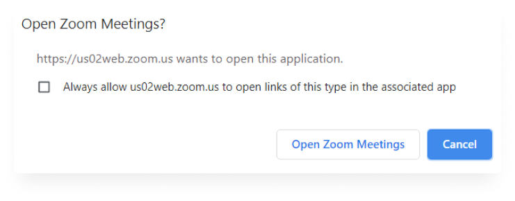 Open a Zoom meeting capture